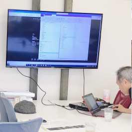 オンライン英会話教室の様子